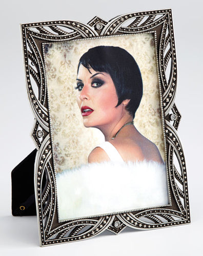 Maxine art deco metal photo frame 13x18cm / 7x5