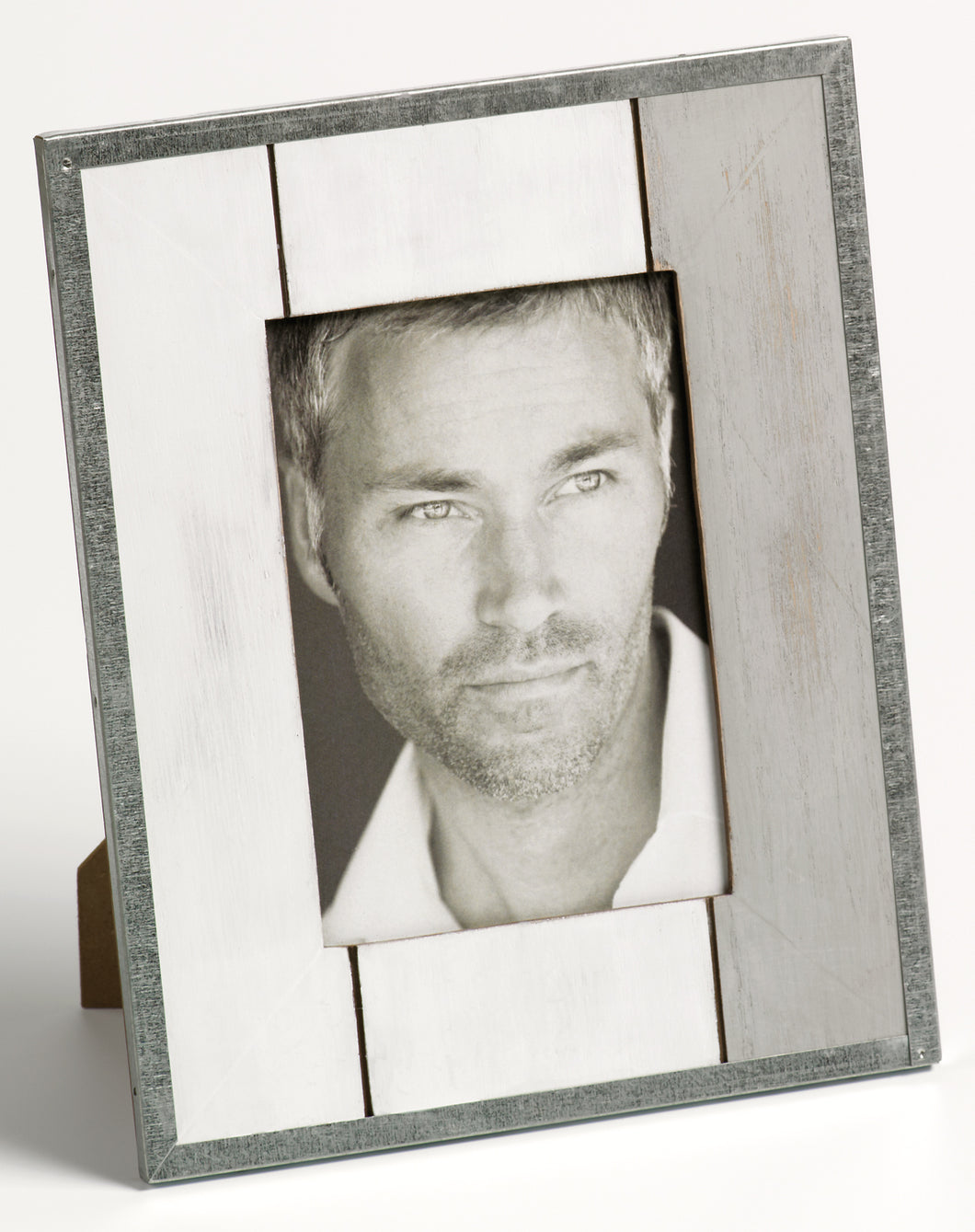 Homme weathered timber and tin photo frame 10x15cm / 6x4
