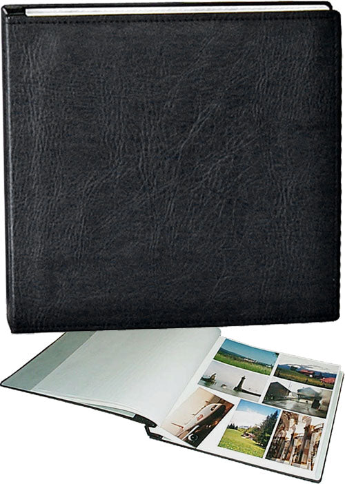 Walther Premium Jumbo black photo album, white pages