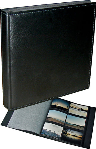 Walther Premium Jumbo black photo album, black pages