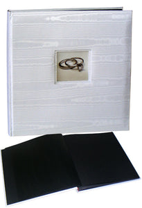 Wedding Silk medium photo albums, 50 black pages