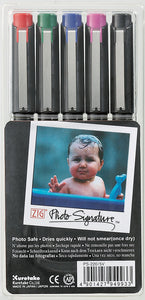 Zig Photo Signature pens coloured (pack of 5)