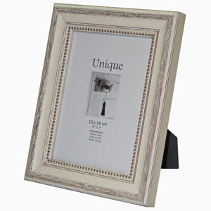 "DF318W Antique timber Weathered Cream 13x18cm 7x5"" photo frames from The Photo Album Shop"