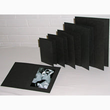 Black Linen 12x8 photo folders (pack of 50)