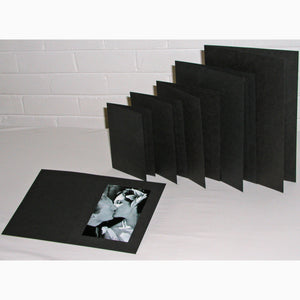 Black Linen 10x8 photo folders (pack of 50)