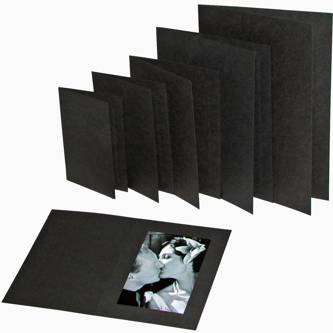 Black Linen 7x5 photo folders (pack of 10)