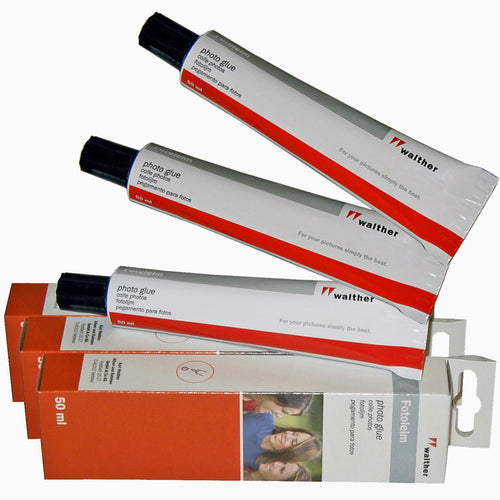 Triple-pack of Walther acid-free removable photo glue 50ml tubes from The Photo Album Shop