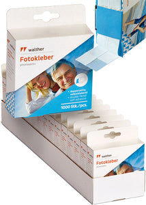 15 x Walther 1000 double-sided photo tabs (BULK PACK)