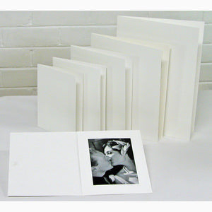 White Glossy 8x6 photo folders (pack of 10)