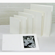 White Glossy 7x5 photo folders (pack of 50)