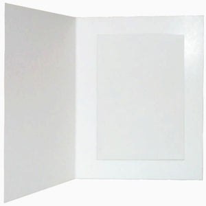 White Glossy 8x6 photo folders (pack of 50)