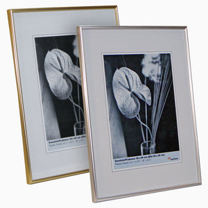 Galeria 30x40cm 12x16 inch metallic gold and silver picture frames from The Photo Album Shop
