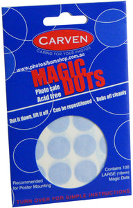 Magic Dots photo & poster mounting spots, 18mm diameter (100)