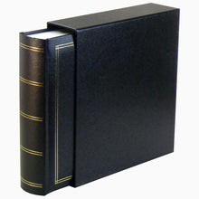 Monza Black 6x4 slip-in 200 photo album with slip-case