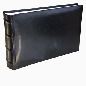 Classic black faux leather acid-free slip in photo albums to hold 100 photos 15x20cm