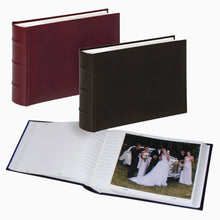 Classic 8x6 inch 15x20cm slip-in 100 photo albums ME373 in black and burgundy from The Photo Album Shop