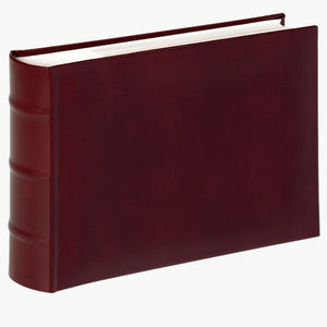 Classic wine red faux leather 8x6 inch 15x20cm slip-in 100 photo albums from The Photo Album Shop