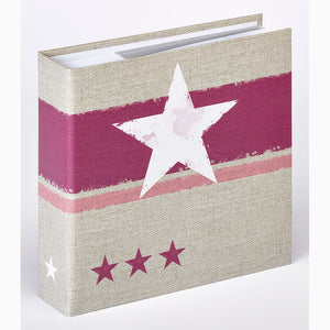 ME479 Stellar 6x4 slip-in 200 photo album in pink