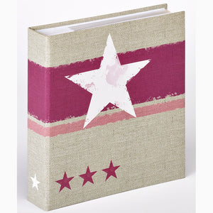 Stellar pink 7x5 slip-in 200 photo albums