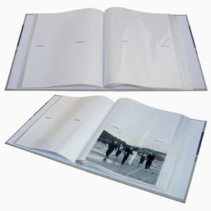 Open Stellar 7x5 slip in photo albums showing page layouts