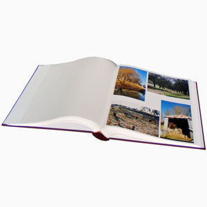 Standard maxi photo albums, white pages