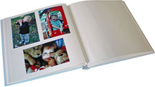 Daydreamer baby photo albums in blue with window