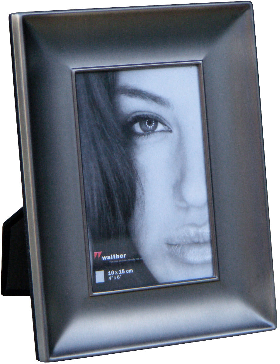 Lara1 matt anthracite metal photo frame 15x20cm / 8x6