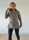 Expandable A-Line Grey Maternity & Nursing Hoodie