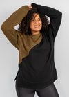 Khaki Geometric Shapes Maternity & Nursing Jumper