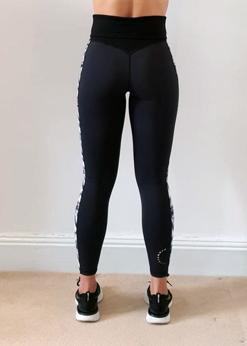 Tropical Stripe Maternity and Post Natal Gym Leggings