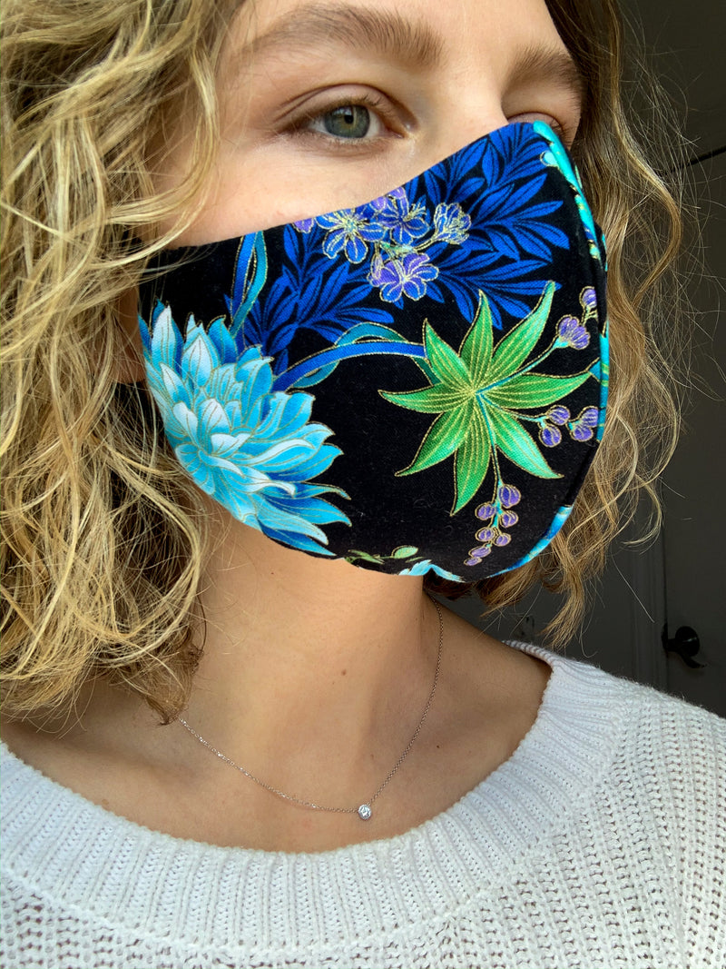 Wonders Blue Cotton Mask