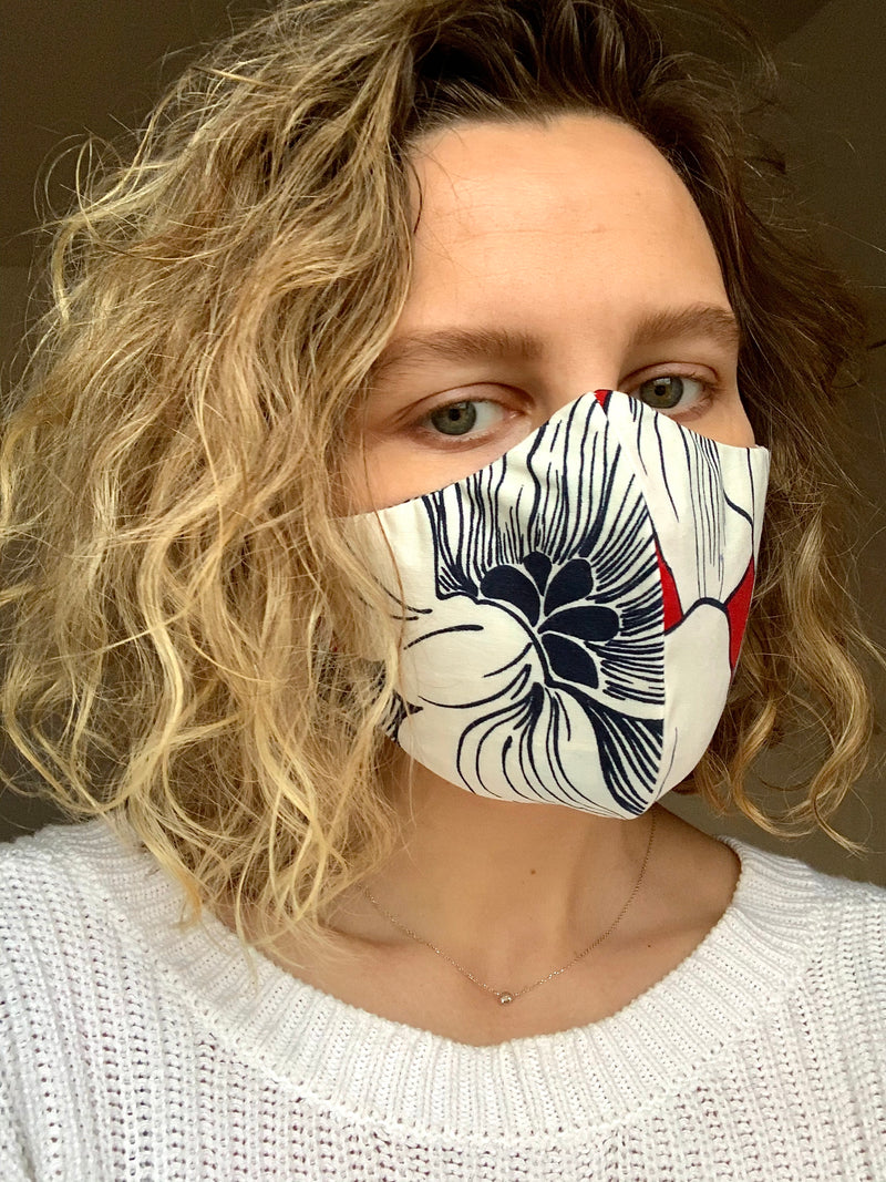 Majestic Bloom Cotton Mask