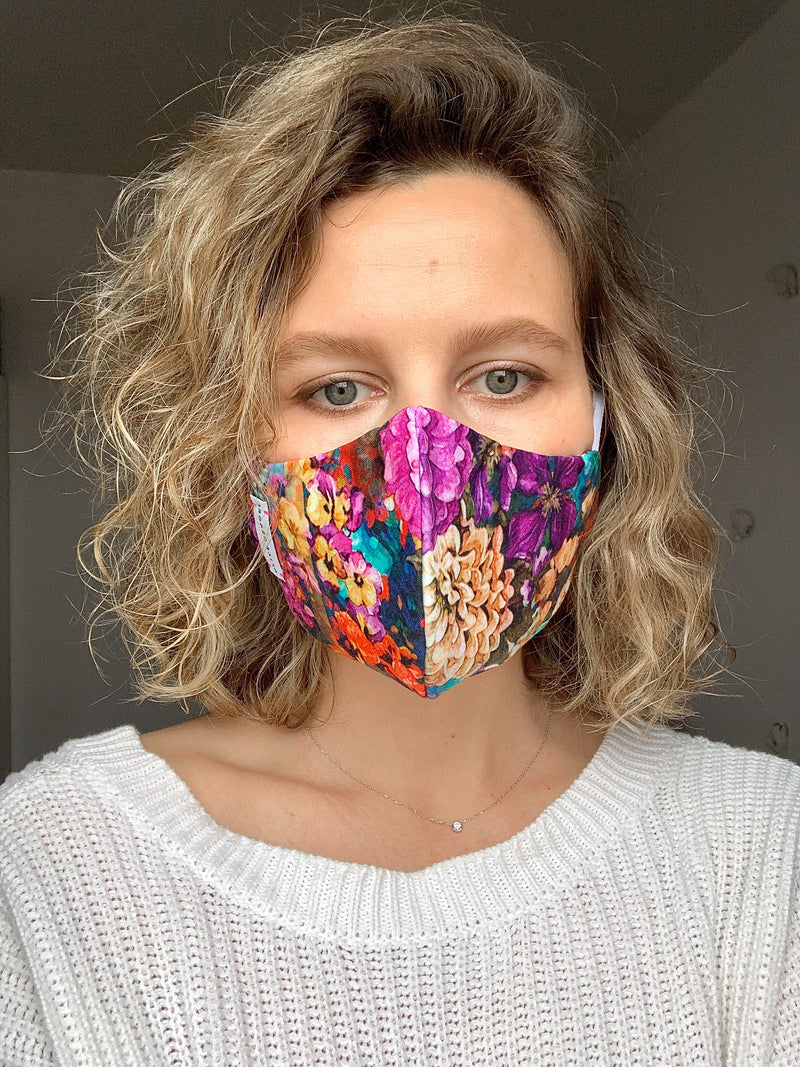 Urban Flowers Cotton Mask