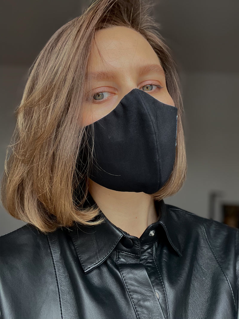 Total Black ◾️ Cotton Mask