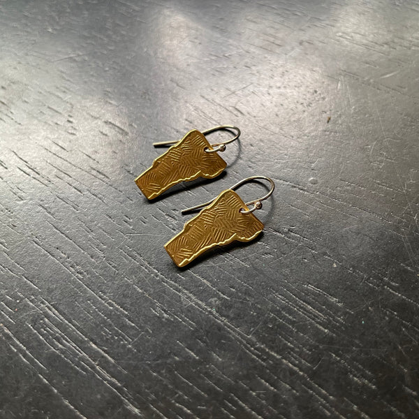 Large Brass Blade Necklace with Turquoise Beads