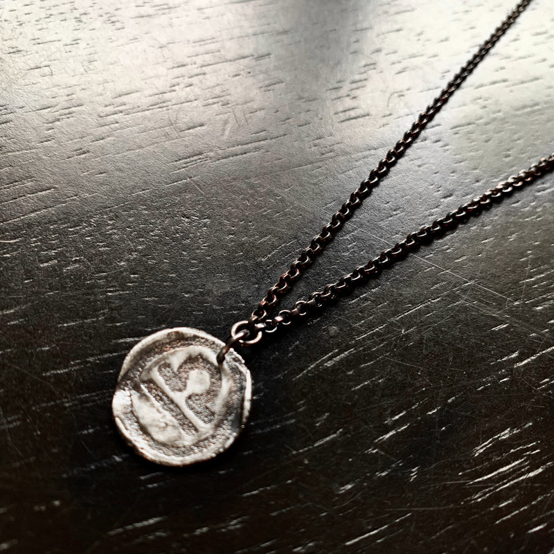 Zodiac Pendant: Single Sterling Medallion on Sterling Chain PRE-ORDER