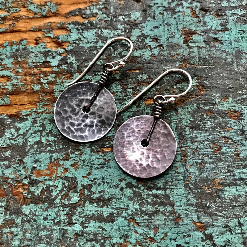 Tiny Silver Hammered Disks