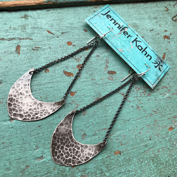 Medium Silver Pendulum Earrings