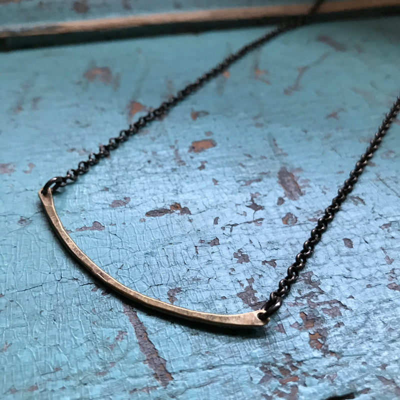 One Rung Brass Necklace