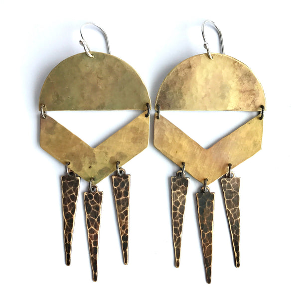 Brass Summer Chime Earrings