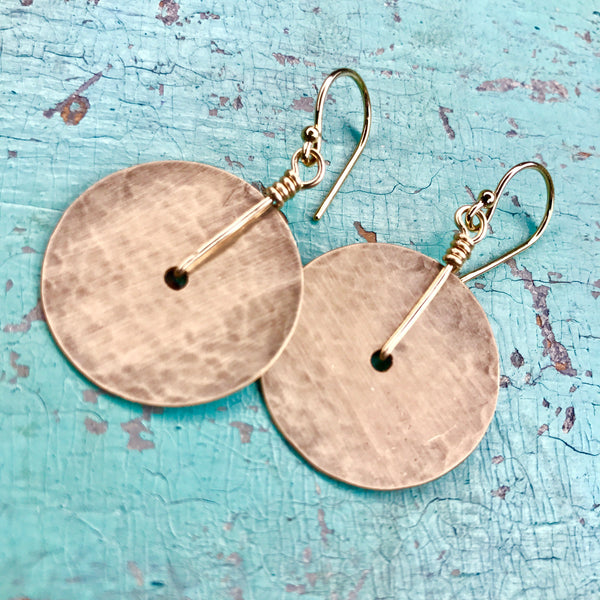 Small Gold Disk Earrings