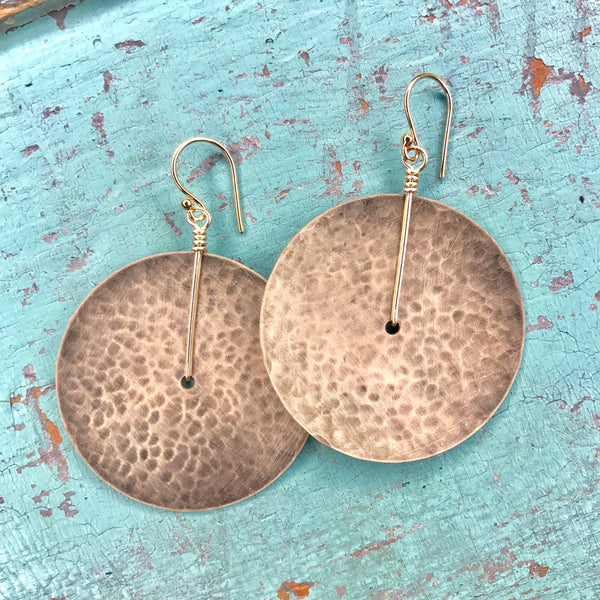 Large Gold Disk Earrings
