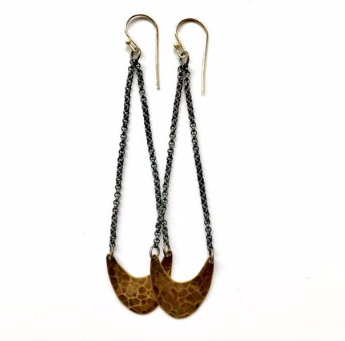 Small Brass Pendulum Earrings