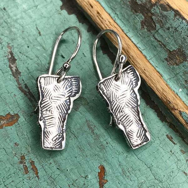 Tiny Silver Vermont Earrings