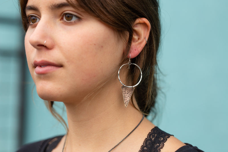 Long Geometric Earrings - Small