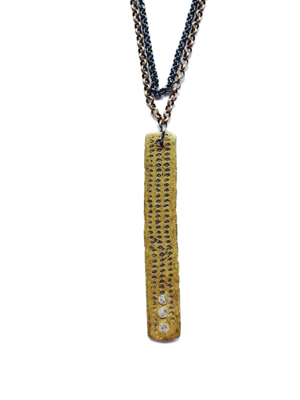 Riveted Brass Relic Necklace