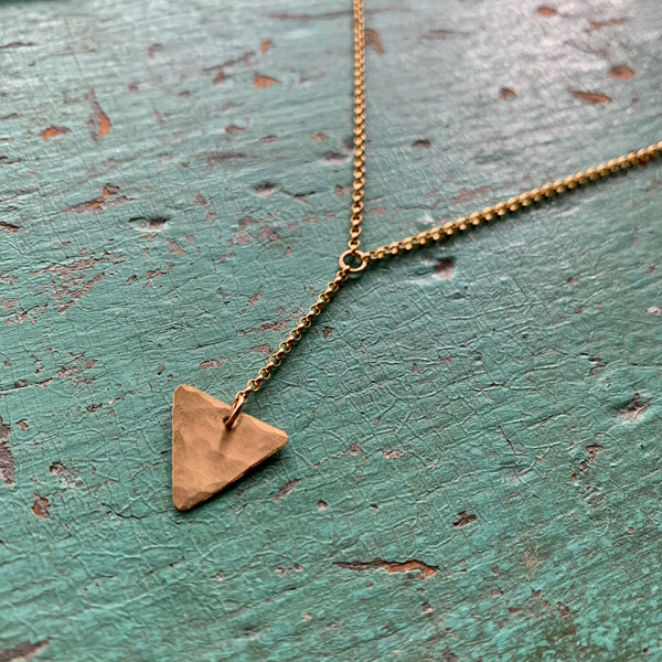 Gold Tri Y Necklace