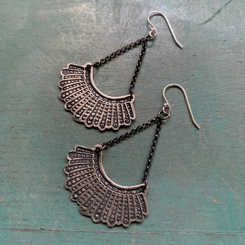 Dissent Earrings - Sterling with Chain