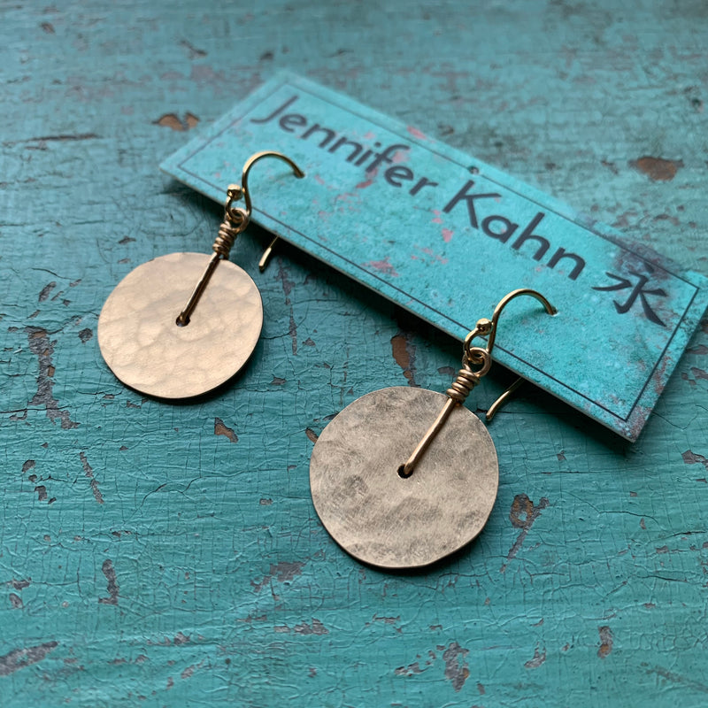 Tiny Gold Disk Earrings