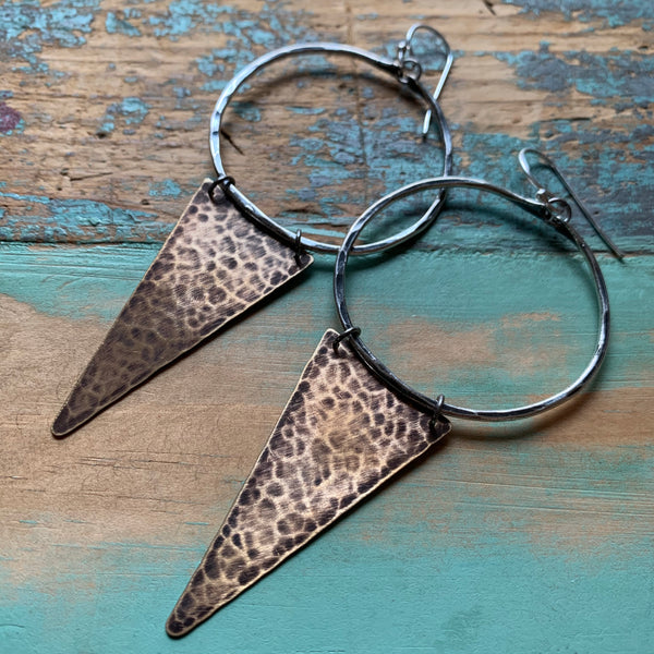 Long Geometric Earrings - Medium